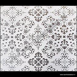 121. Statische raamfolie melkglas ornamenten