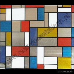 130. Raamfolie Mondriaan (plakfolie voor ramen)