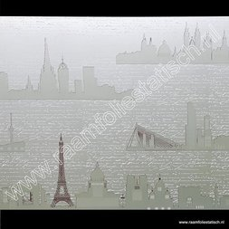 210. Statische raamfolie city