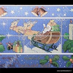 218. Statische raamfolie Kerst