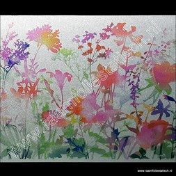 225. Statische raamfolie flora kleuren