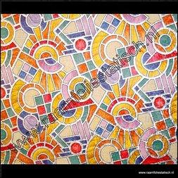 244. Raamfolie Mozaiek glas in lood (plakfolie voor ramen)