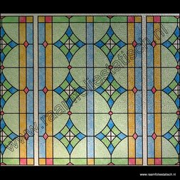 2. Statische raamfolie glas in lood