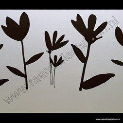 36. Statische raamfolie zwarte bloemen