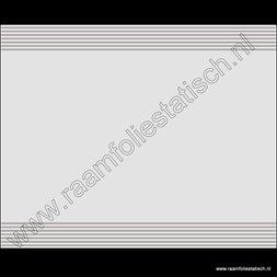 37. Statische gezandstraalde raamfolie lijnen boven en onder