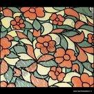 gekleurd raamfolie bloemen