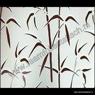 breed statische raamfolie bamboe