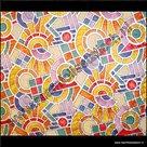raamfolie 90cm breed glas in lood mozaiek