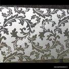 plakfolie voor ramen gekrulde bladeren 45cm