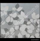 Statische raamfolie witte / grijze bladeren
