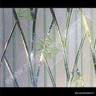 Statische raamfolie bamboe kleuren verticaal 46cm