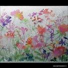 Statische raamfolie Flora kleuren 45cm