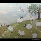 Statische raamfolie schapen 70cm