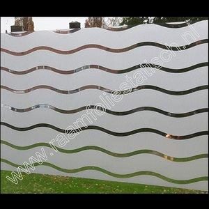Statische raamfolie strepen wave 45cm