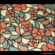gekleurd raamfolie bloemen breed