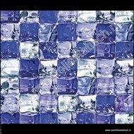 statische raamfolie blauwe ijsblokken