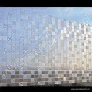 Statische raamfolie blokken design 46cm