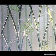Statische raamfolie bamboe kleuren verticaal 92cm