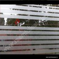 Statische raamfolie strepen strook 22cm