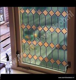173. Glas in lood groen verticaal (plakfolie voor ramen)