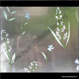 120. Statische raamfolie Meiklokjes (Lily of the vallley).