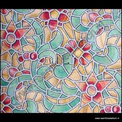 124. Raamfolie groene tuin (plakfolie voor ramen)