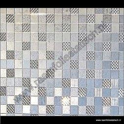 137. Statische raamfolie vierkanten modern