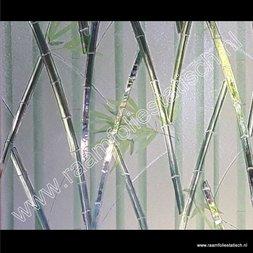 221. Statische raamfolie bamboe kleuren verticaal