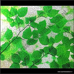 238. Statische raamfolie groene bladeren