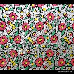 262. Raamfolie rode bloem (plakfolie voor ramen)