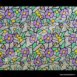 263. Raamfolie paarse bloem ( plakfolie voor ramen)