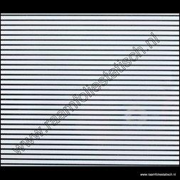 47. Statische raamfolie witte lijnen