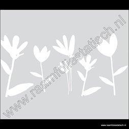145. Statische raamfolie witte bladeren (maxima wit)