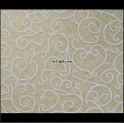 108. Statische textielfolie Voluta Beige decobytrium