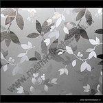 Breed statische raamfolie bloemen