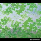 Statische raamfolie groene bladeren 67,5cm x 2m