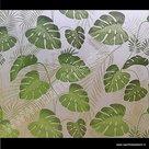 Statische raamfolie Tropische bladeren 67,5cm x 2m
