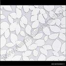 statische raamfolie witte bladeren