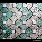 statische raamfolie glas in lood