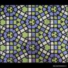 raamfolie mozaiek