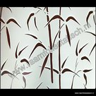 statische raamfolie bamboe stengels