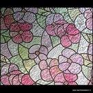 decoratieve folie voor ramen bloemen