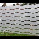 Statische raamfolie strepen wave 90cm