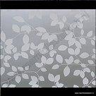 statische raamfolie white leafs 45cm