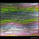 statische raamfolie gekleurde golven 92cm