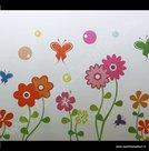 Statische raamfolie bloemen en vlinders kleur 70cm