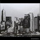 Statische raamfolie Skyline 70cm