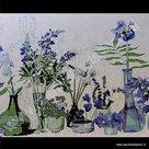Statische raamfolie Cottage bloemenpremium 45cm d-c-fix
