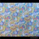 Raamfolie Mozaiek glas in lood verticaal 90cm x 2m