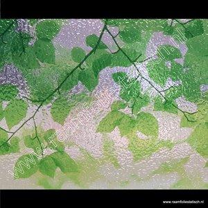 Statische raamfolie groene bladeren 46cm